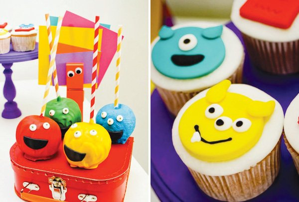 little monster party cupcakes and cakepops