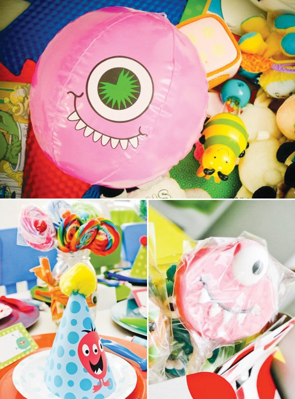 little monster party pink eye ball