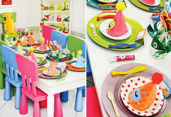 little monster party table