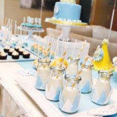 little prince birthday party milk drinks