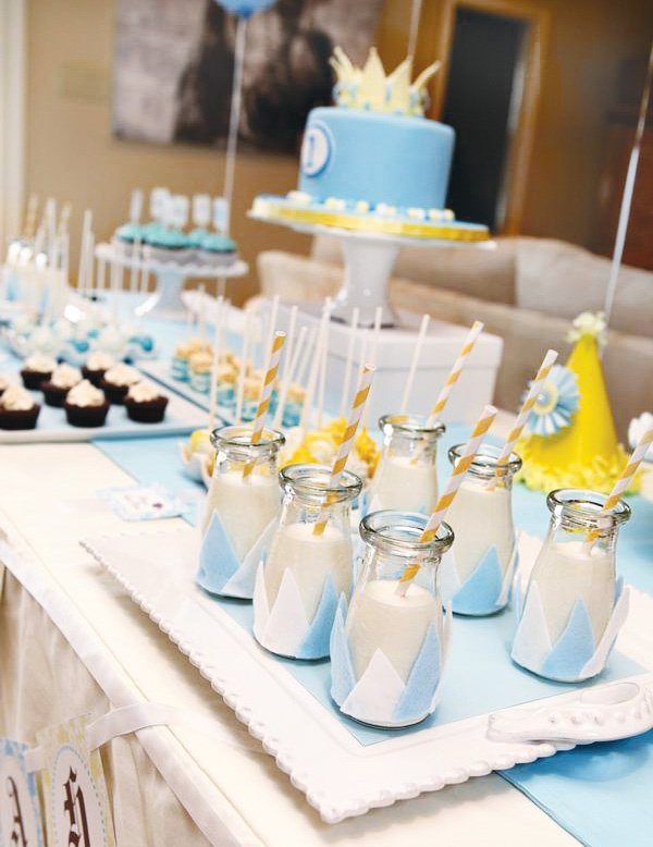 little prince birthday party milk drinks