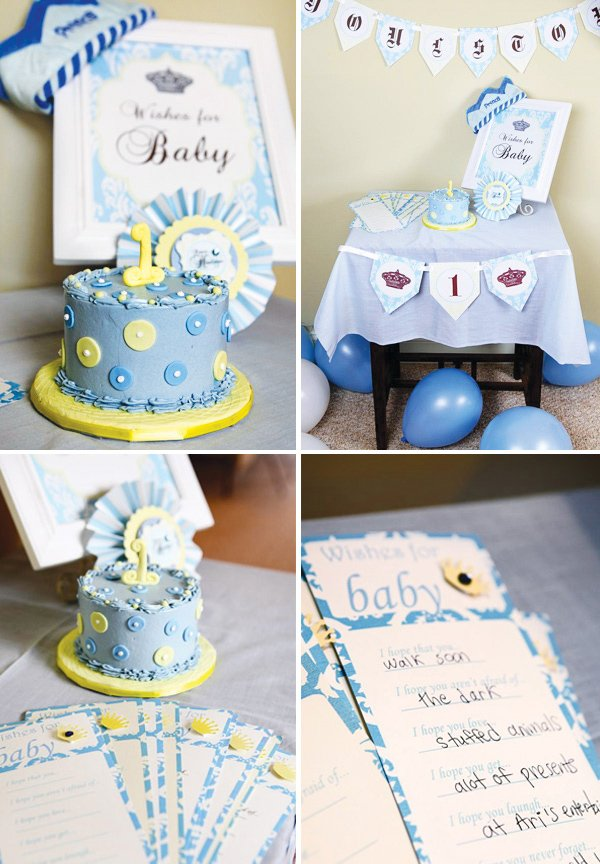 little prince birthday party smash cake