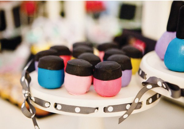makeup cake balls for a project runway party