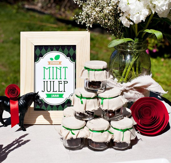 junior mint julep jar favors