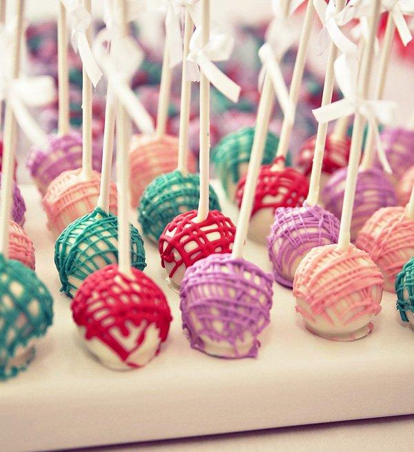 elmo birthday party modern cake pops