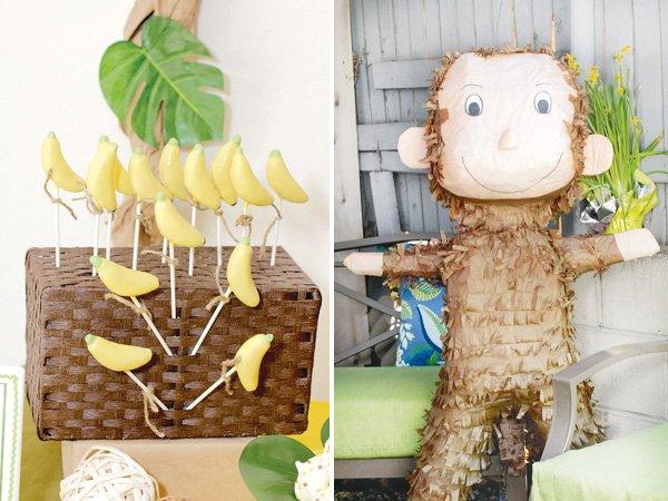 monkey birthday party bananas and a pinata