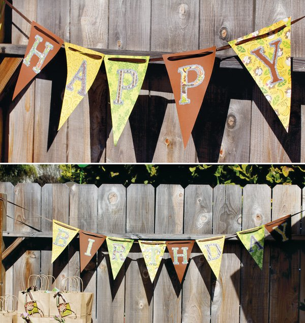 monkey birthday party bunting