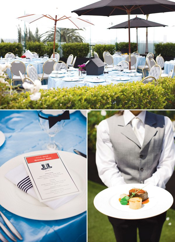 monopoly birthday party theme with menus and gourmet food