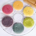 rainbow cupcakes made with natural vegetable dyes