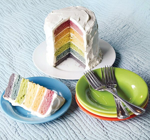 Diy Tutorial Rainbow Cake With Homemade All Natural Dyes