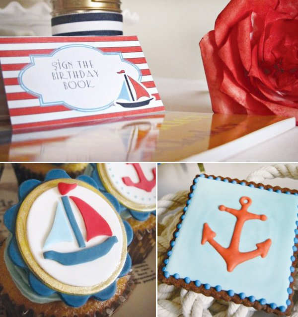 nautical first birthday party book signing