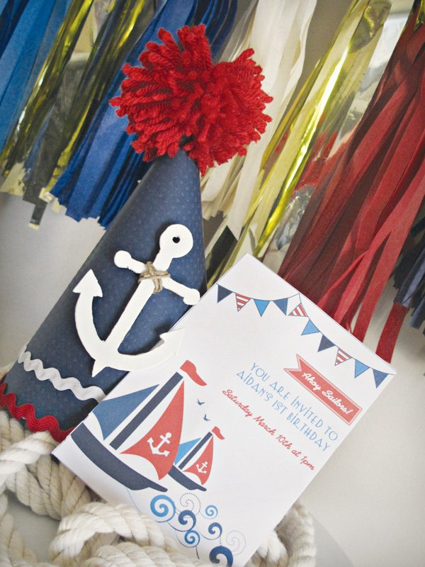 A Nautical First Birthday Party Hostess with the Mostess