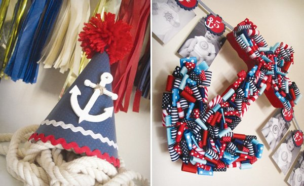 Nautical Party Hat With An Anchor
