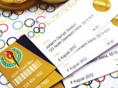 olympics party theme ticket style invitations