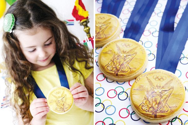 olympic gold metal cookie