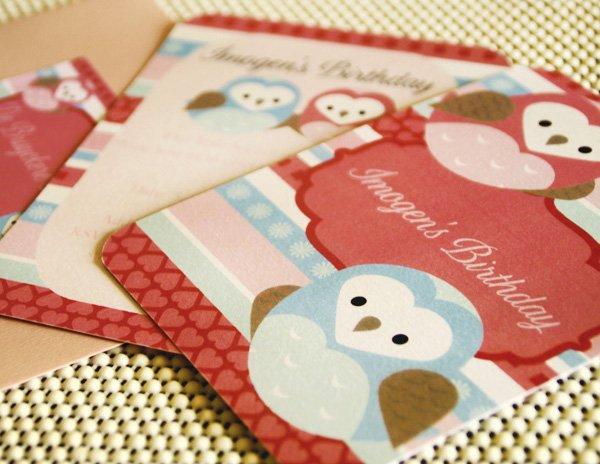 owl love dessert table invitations