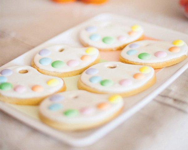 painters palette sugar cookies