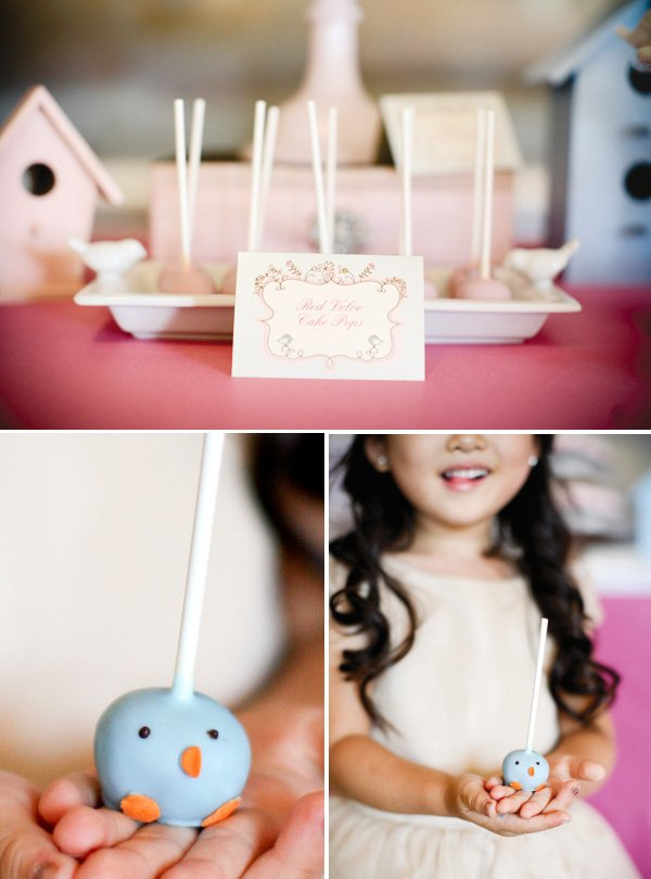 party sweets including bird cake pops