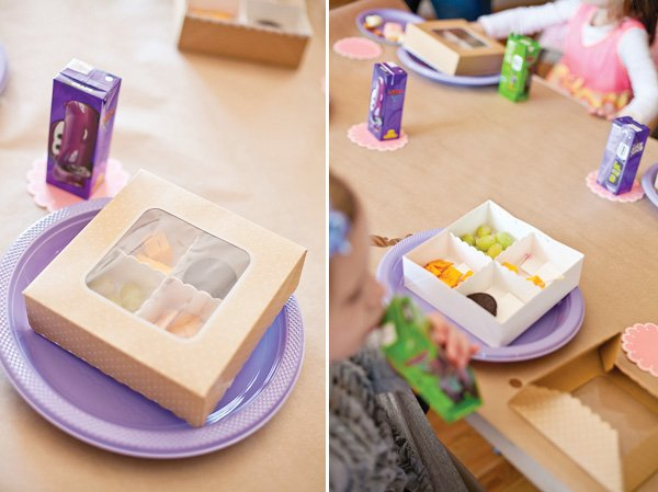 pastel art party bento box kids lunches