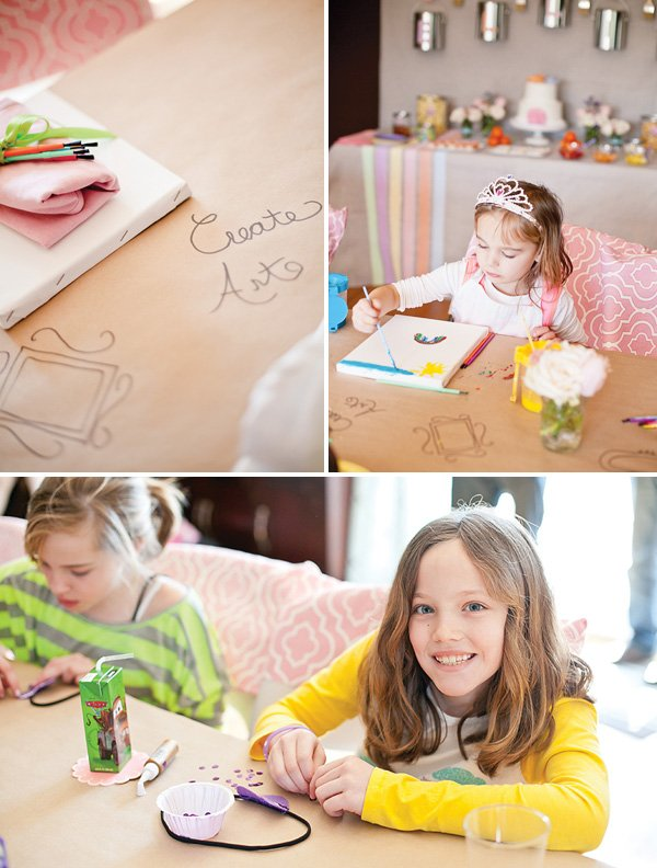 pastel art party painting and crafts