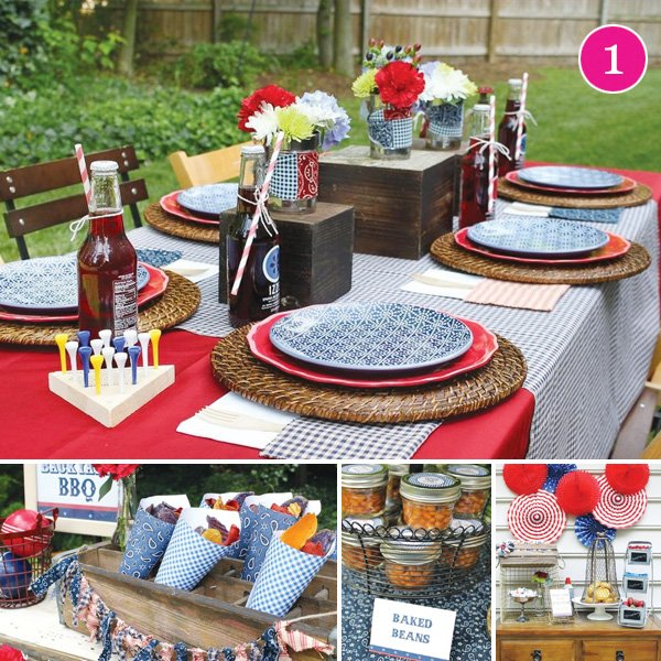 12 Cool Kentucky Derby Inspired Home Decor Ideas: {Party Of 5} Patriotic BBQ, Sugar & Spice, Top Chef