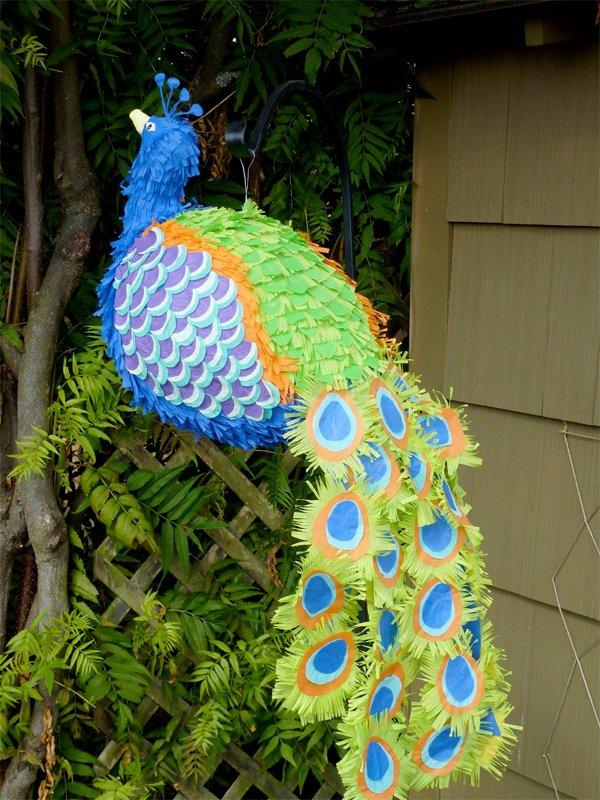 peacock pinata