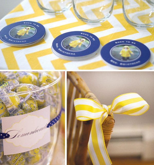 personalized bridal shower coasters