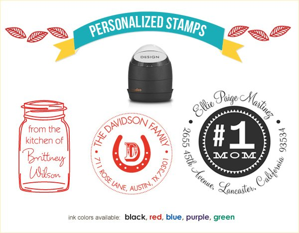 personalized stamps and return address labels
