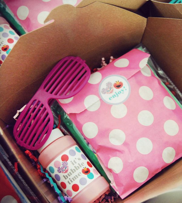 pink elmo party favors