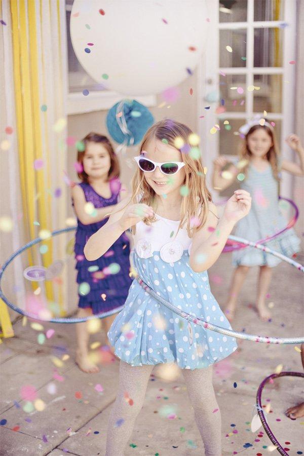 pink hula hoop party girls