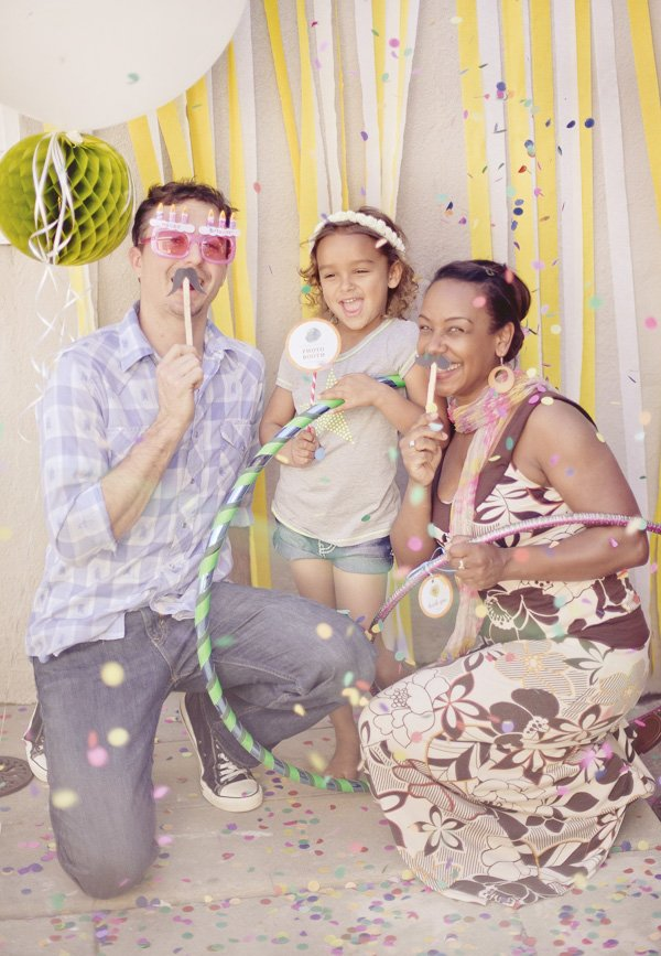pink hula hoop party photo booth props