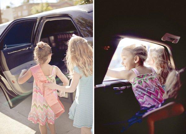 pink hula hoop party birthday sash and limo