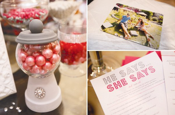 pink silver bridal shower games