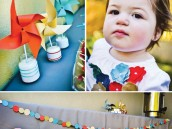 pinwheels and polkadots first birthday party ideas