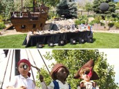 pirate birthday party ship table