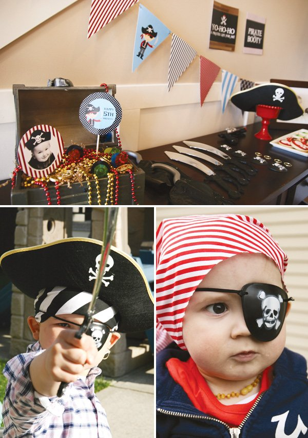 pirate party costume with an eye patch