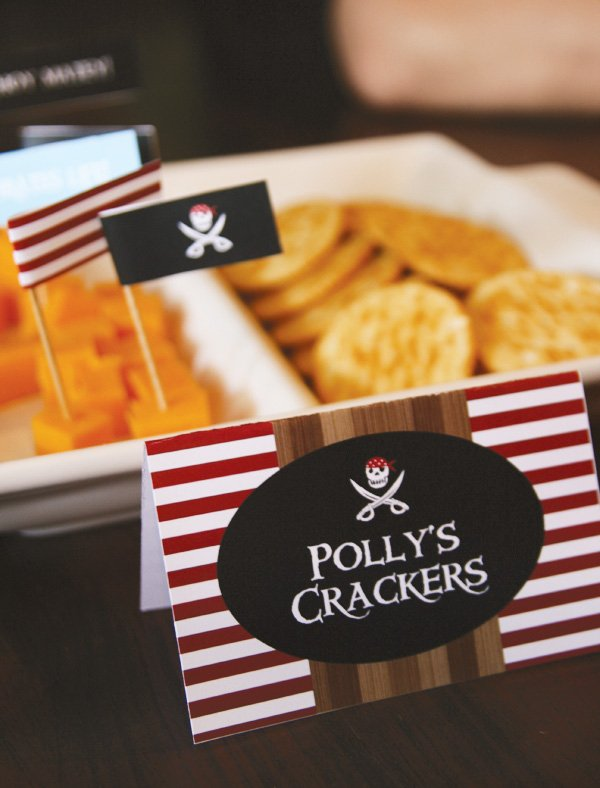 pirate party food flags