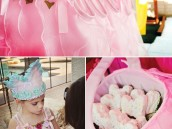 pink princess party dresses and fabric princess crowns