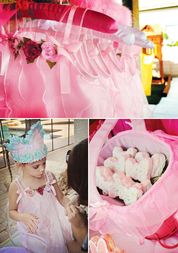 pink princess party dresses and fabric princess crowns
