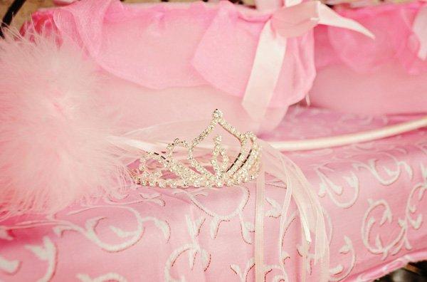 pink princess birthday party tiara