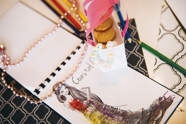 princess fashion party coloring design