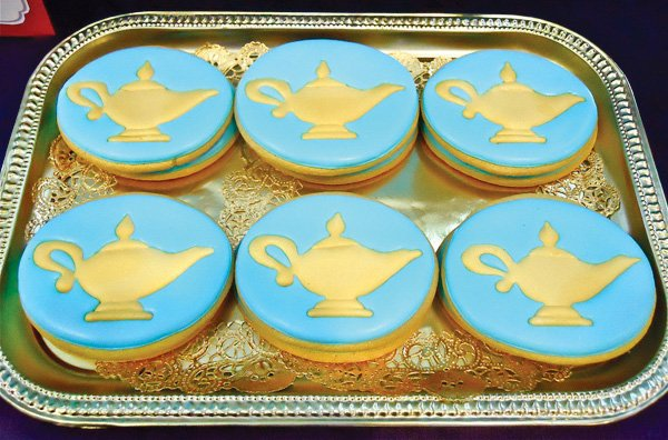 princess jasmine birthday party aladdin lamp cookies