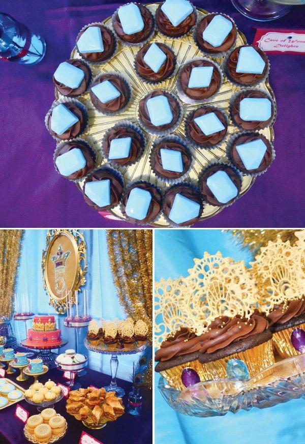 princess jasmine birthday party cupcakes