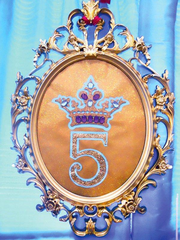 princess jasmine birthday party 5 sign