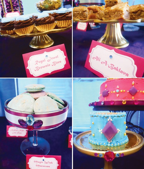 princess jasmine birthday party sweets labels