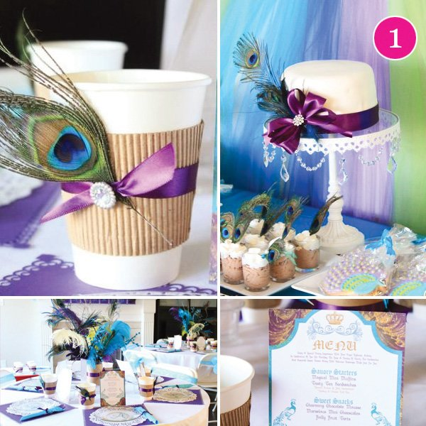 purple peacock princess party