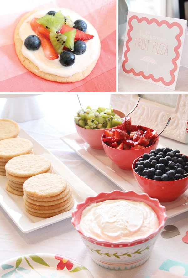 bridal shower make your own fruit pizza bar