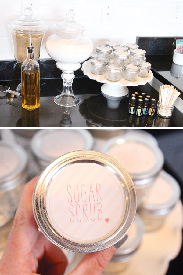 rain shower party sugar scrub activity and favor