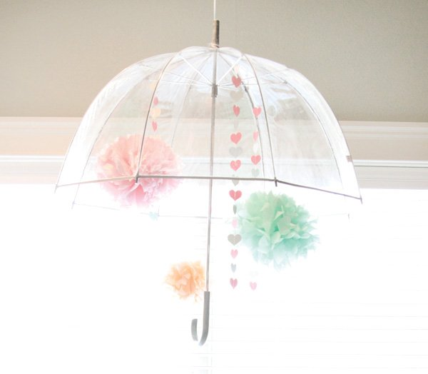 rain shower party umbrella