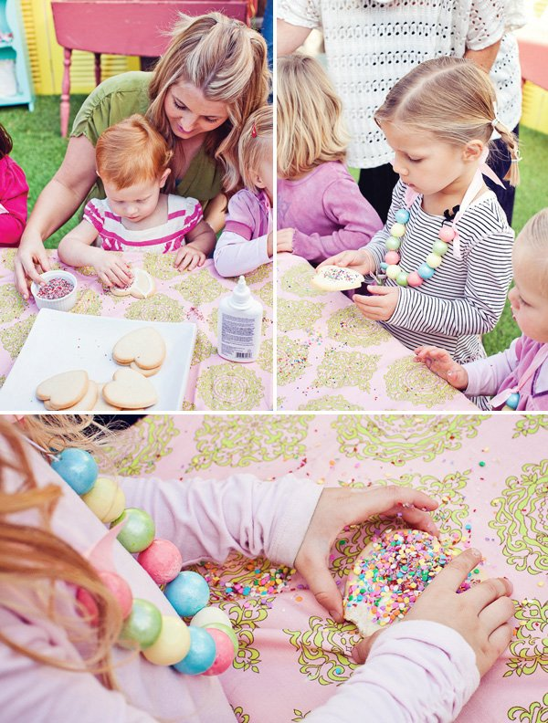 rainbow sweets birthday party cookie activity